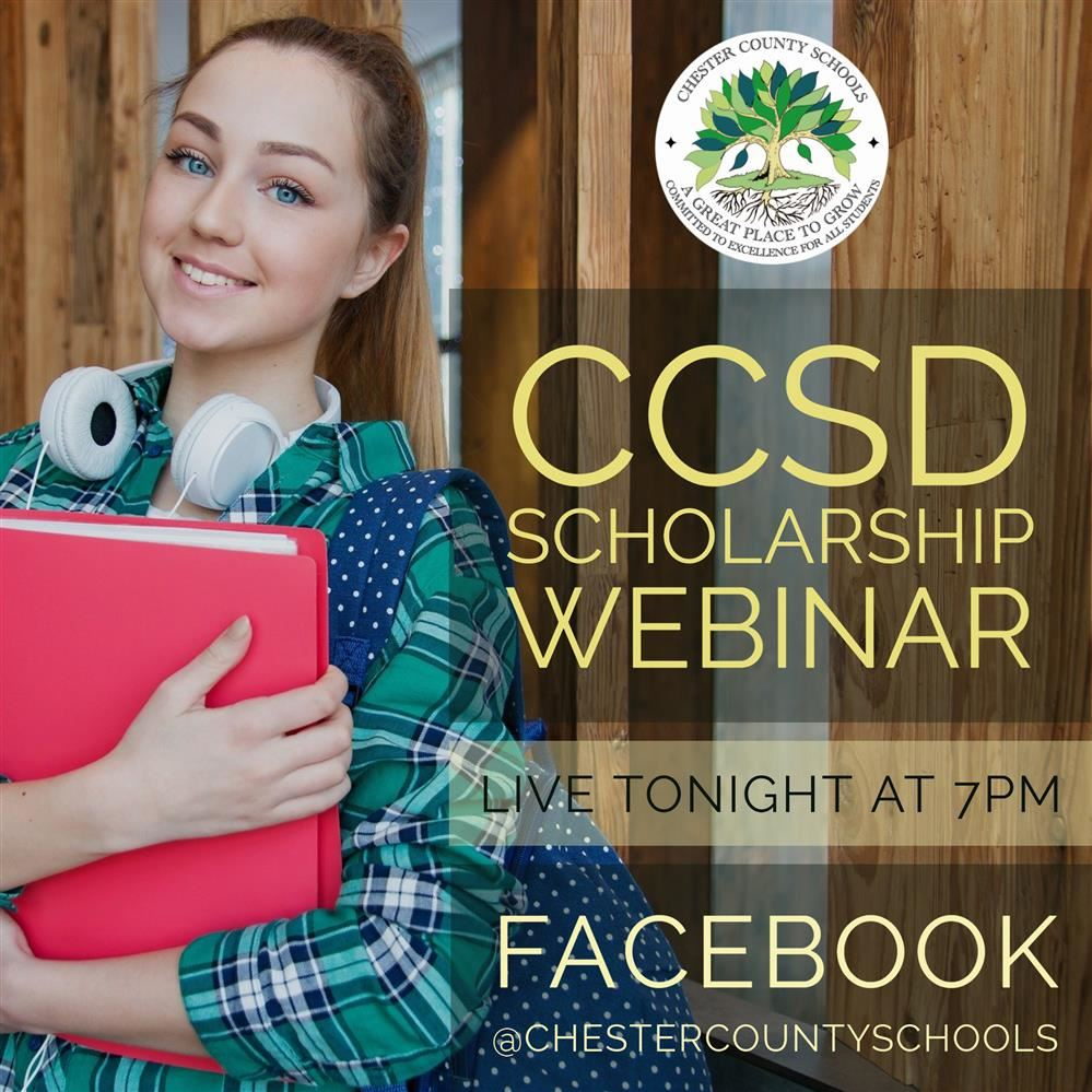 CCSD Scholarship Webinar TONIGHT at 7pm on Facebook Live